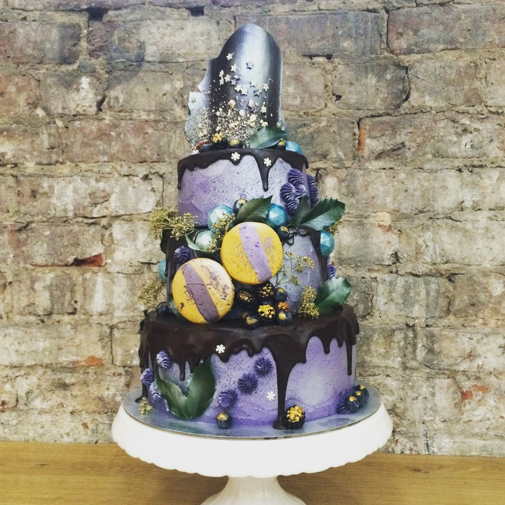 Moody Three Tier Christmas Cake  From £325