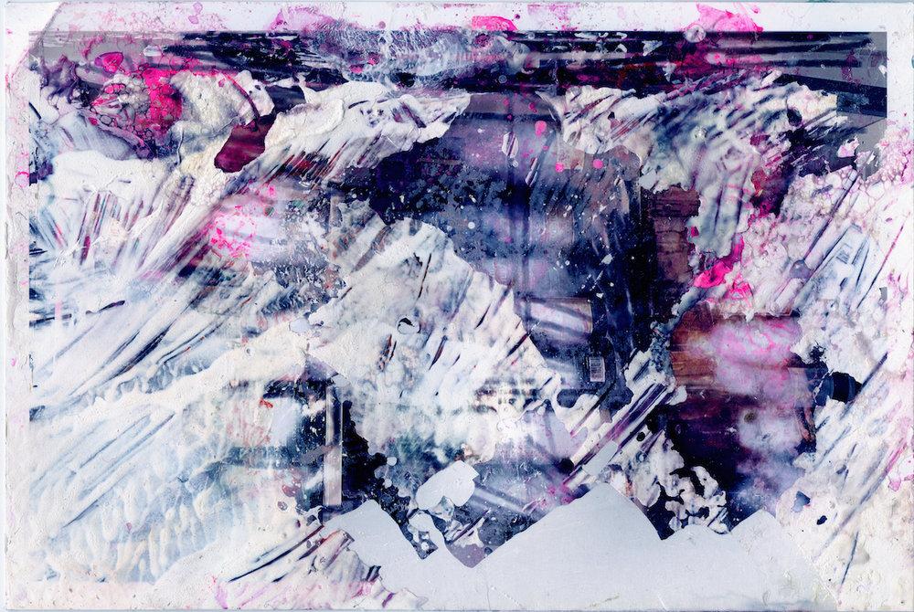 Acrylic, Street Marker Spraypaint, Photographic Paper Matthew Bax, 2017