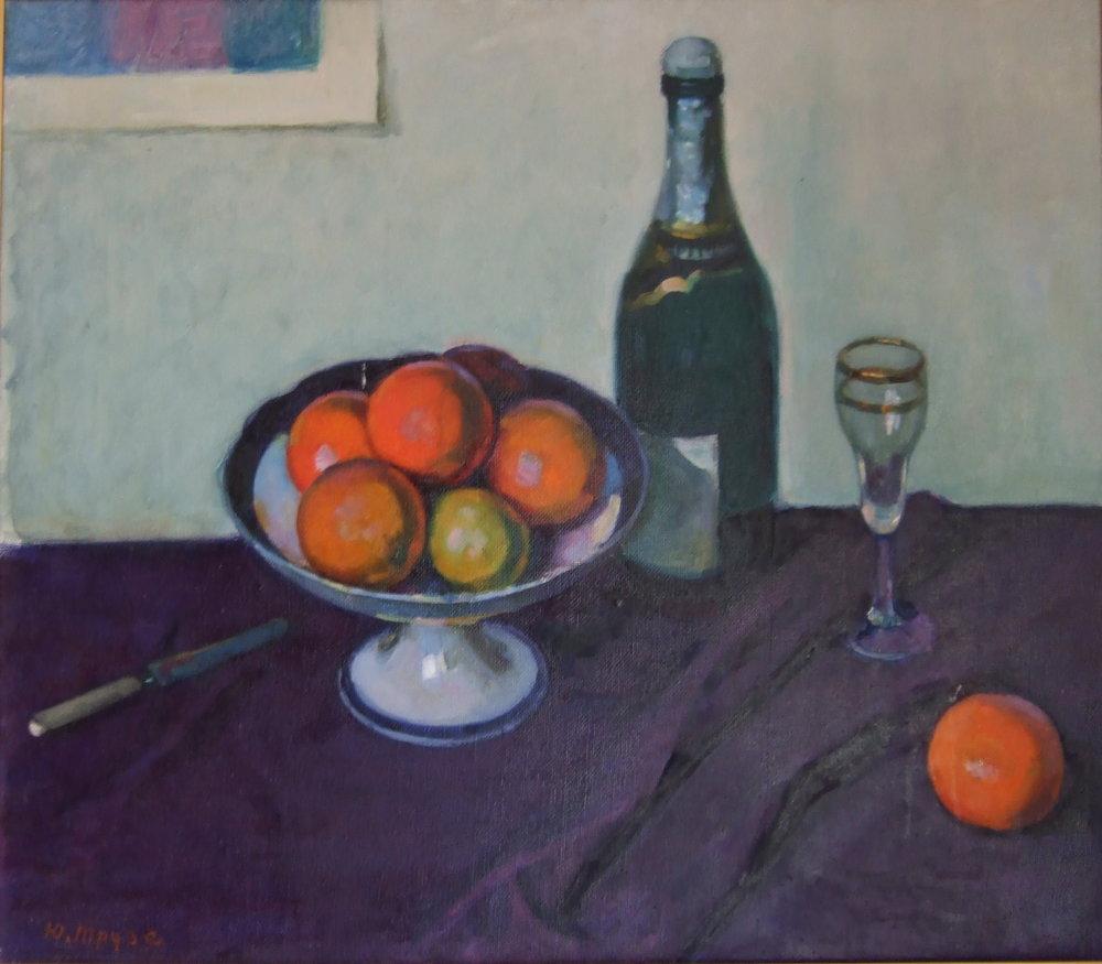 Still life, oil on canvas, size: 79 x 60 cm., singled. Натюрморт. Холст, масло, Размер: 79 x 60 см., подпись.
