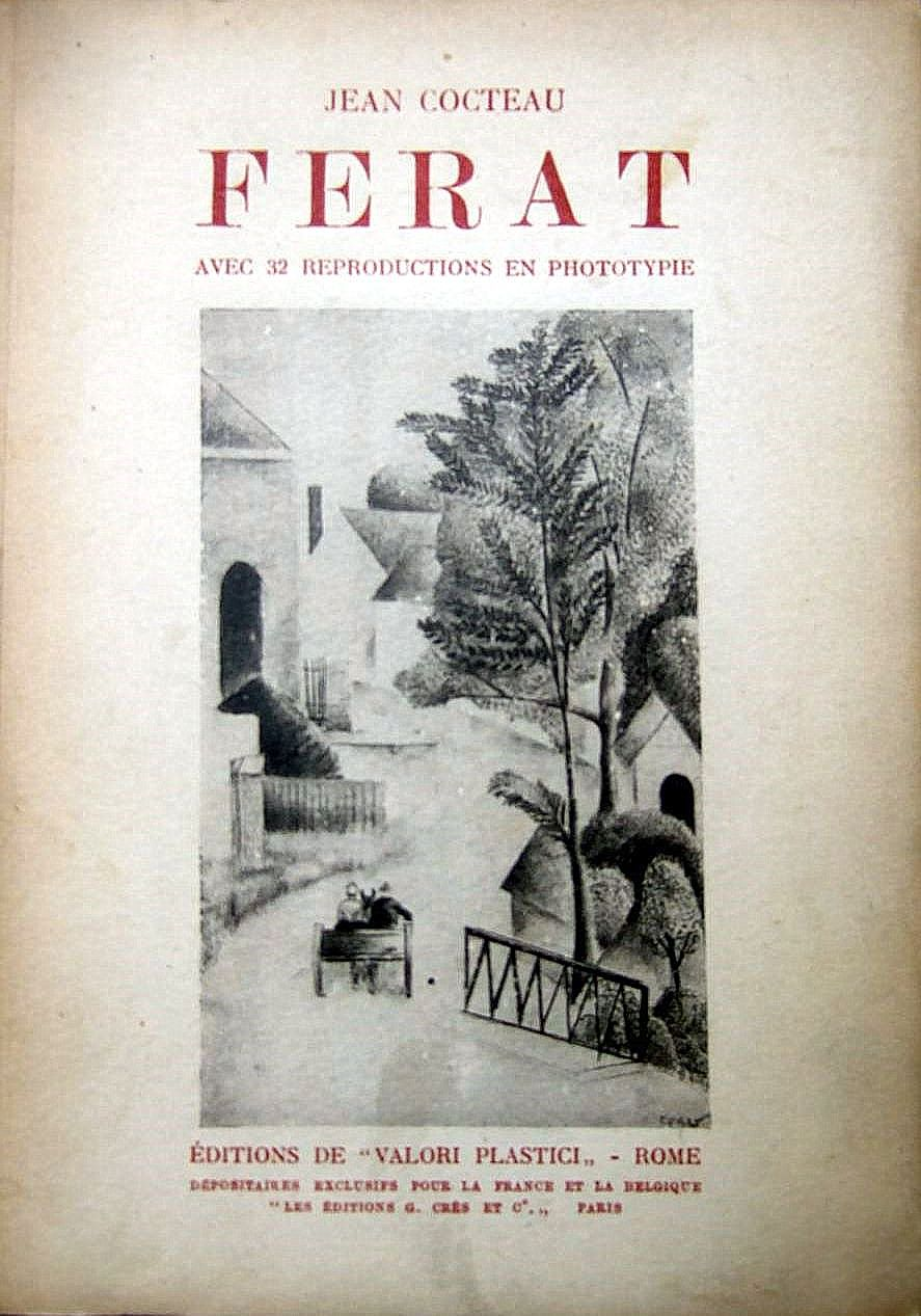 "Book by Jean Cocteau ""Ferat"", 1924."