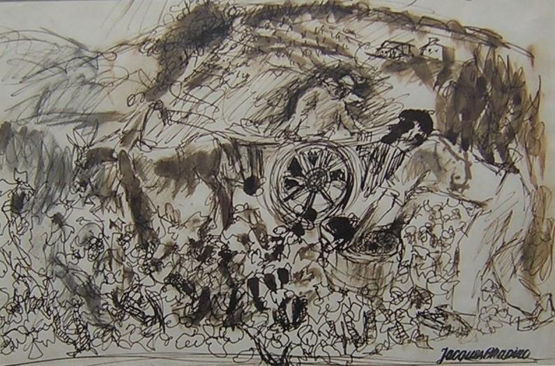 Vintage. Ink on paper.