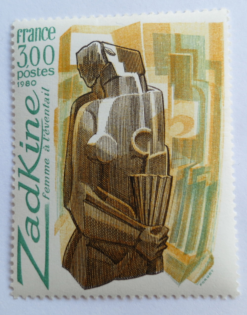 French stamp 1980. Size: 53 x 40 mm.