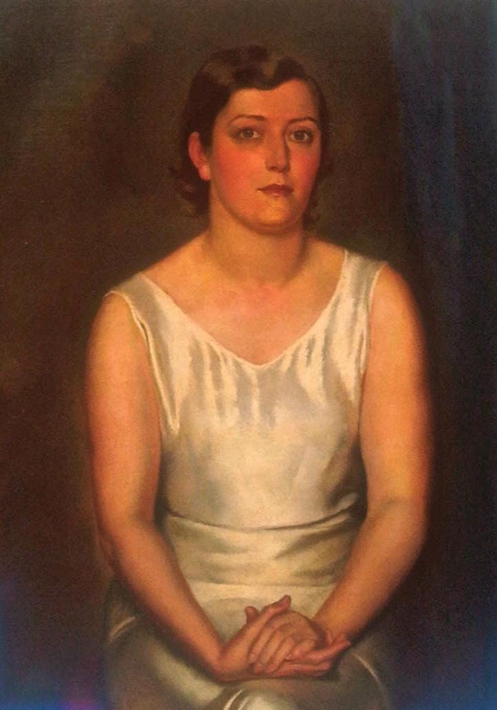 Portrait of a lady. Oil on canvas, 100 x 75 cm, signed. Фречкоп Леонид. Холст, масло, подпись, 100 x 75 cm.