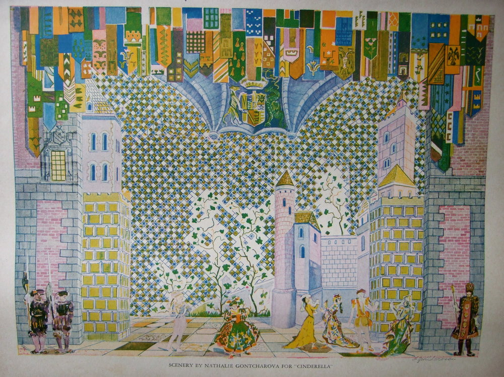 "Programm ""Original Ballet Russe"".  Scenery by Natalia Gontcharova for Ballet Cinderella."