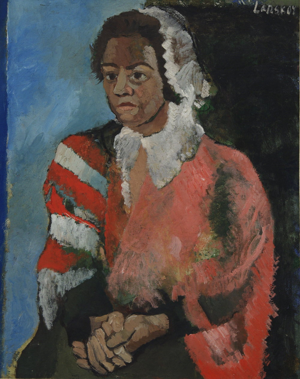 Portrait of a Peasant.   Oil on canvas, size: 92 x 75 cm., signed, circa 1925-28