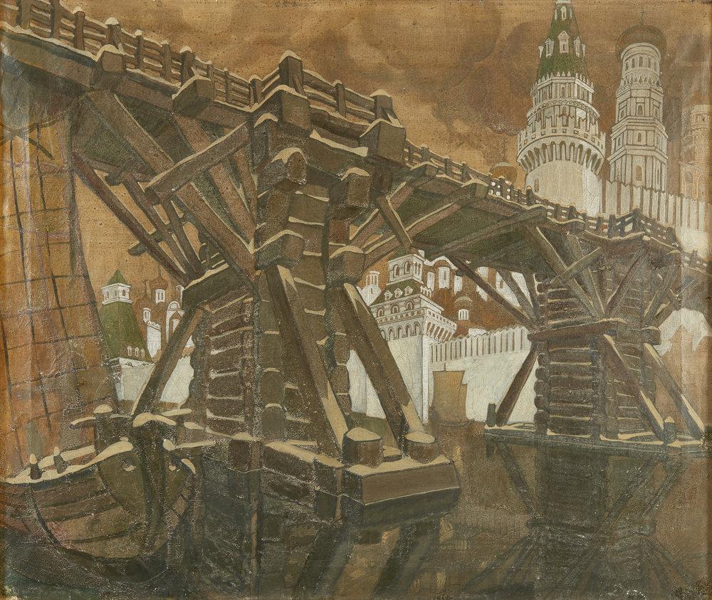 Brailovsky Leonid (1867 - 1937) and Brailovskaya Rimma (1877 – 1959)  OIL ON CANVAS 74 X 63 CM.