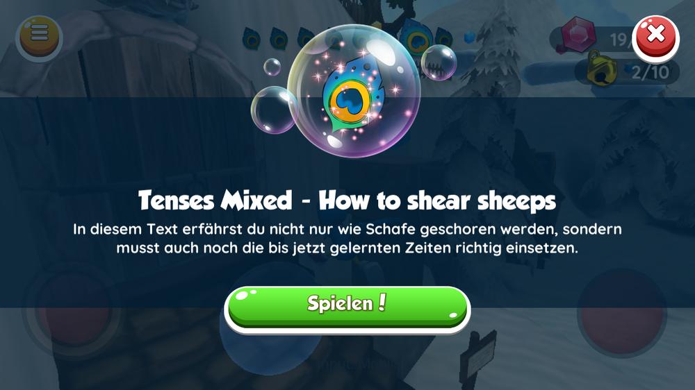 Beta-Version: Jedes Mini-Game startet mit einer kurzen Erklärung und einem Video.
