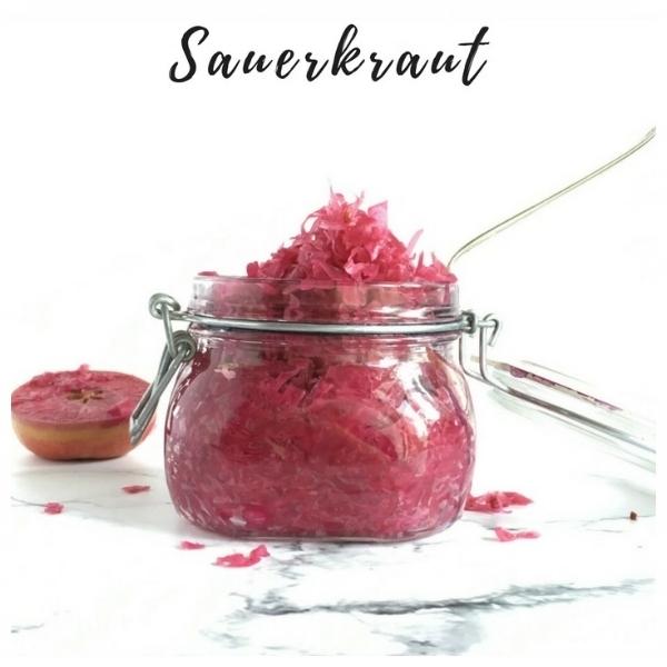 Red Cabbage, Apple, Chilli & Ginger Sauerkraut Recipe