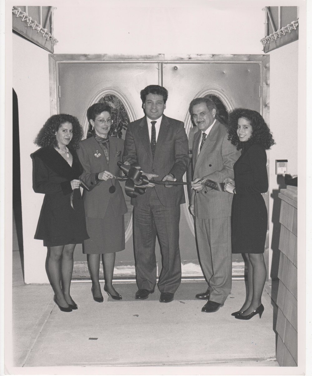 The Schoenfeld Family (Ketti, Elaine, Billy, Gwen, l-r) with Joe Vicari (  New Jersey   Board of Chosen Freeholders , center) at the opening of Gemsmith. Circa 1989