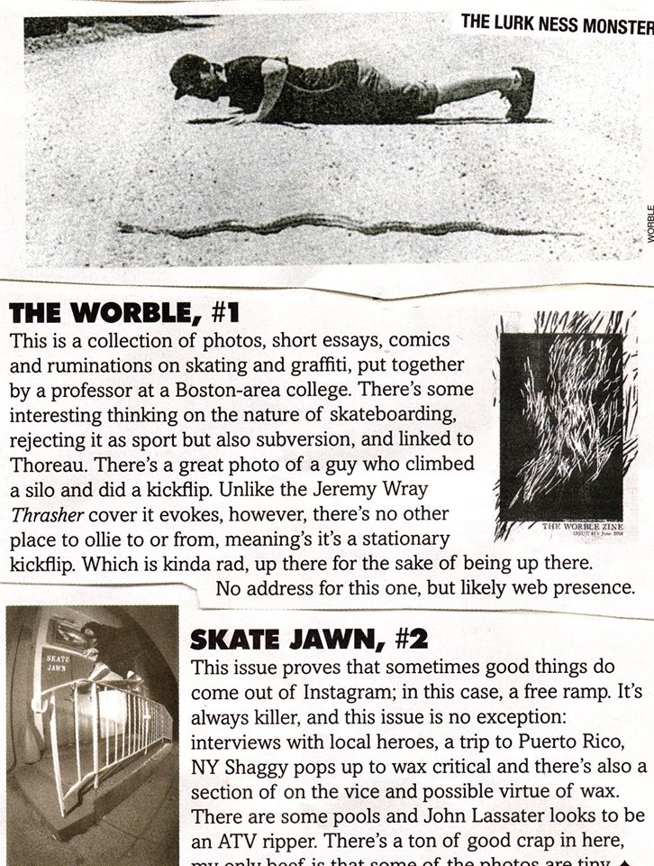 The Worble featured in October's Thrasher
