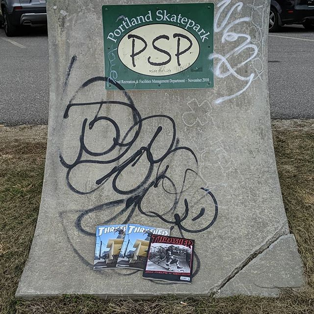 Left some recent @thrashermag at the #portlandskatepark , get 'em while they're still there.