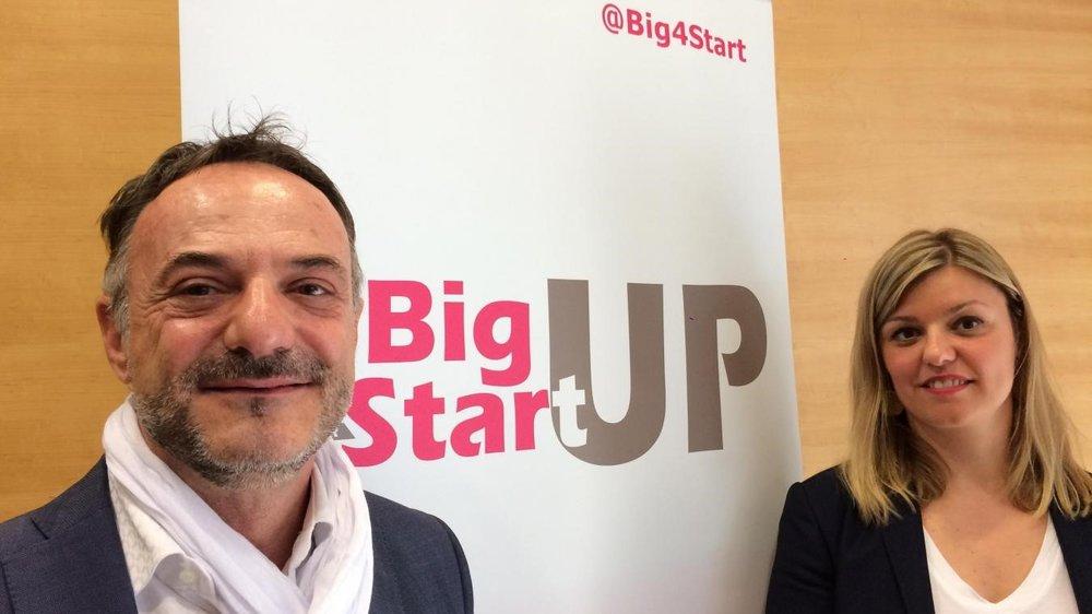 Pierre Billet et Lucie Phaosady veulent créer de nouveaux business numériques en simplifiant les relations entre grands groupes et jeunes pousses. PHOTO LA VOIX