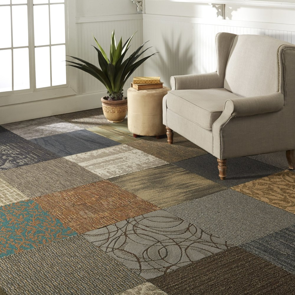 Click here for pictures of carpet tile flooring