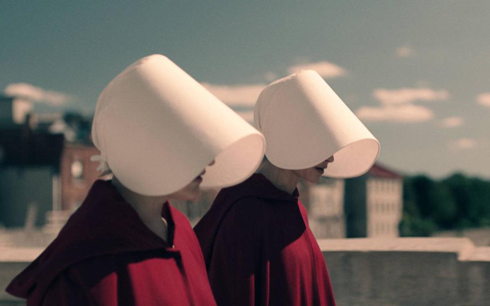 The Handmaid blinders.