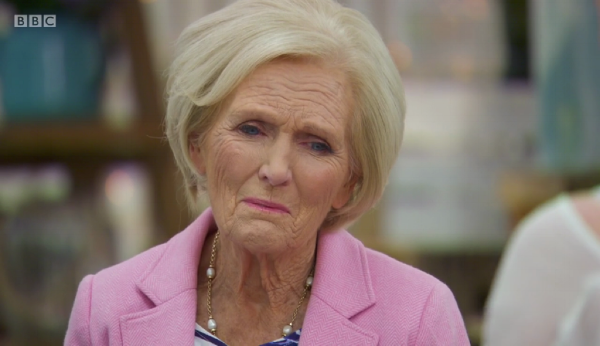 Mary's face after seeing Louise's mess of a church.