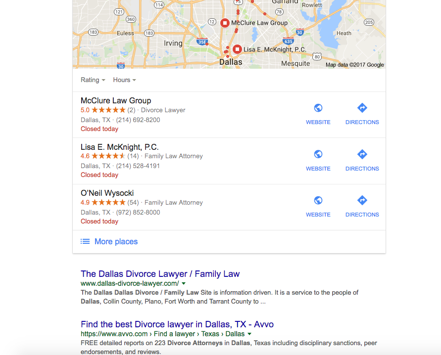 You don't actually see any of the 'free' listings until the bottom of the second page