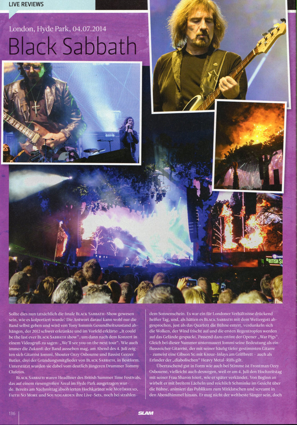 BLACK SABBATH live in London/Hyde Park, 2014 (1)