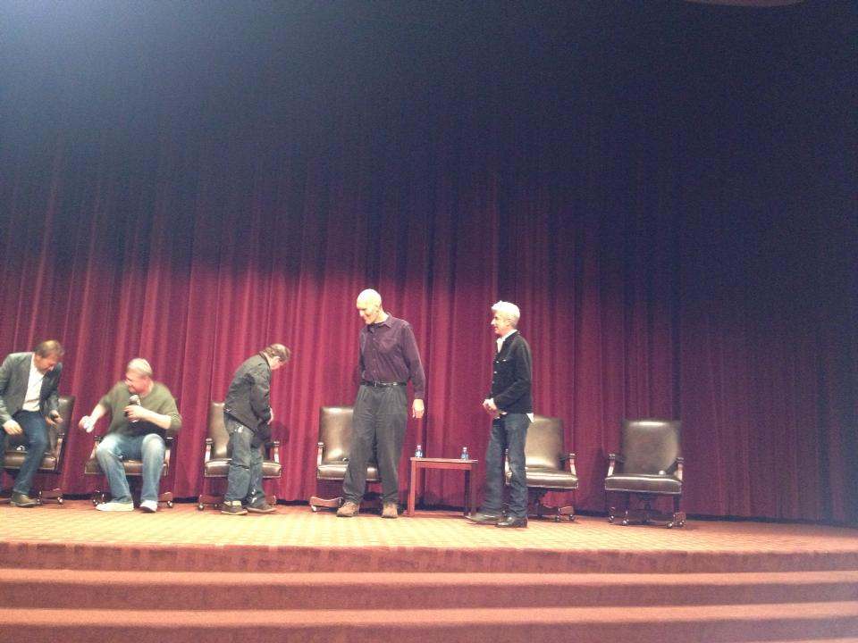 USC Twin Peaks Feb. 17 panel entering the stage.