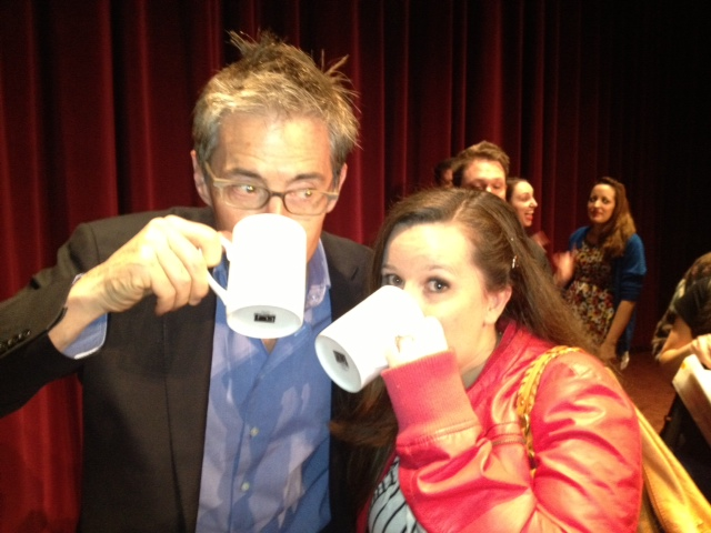 "Kyle MacLachlan and I drinking some ""damn fine coffee!"""