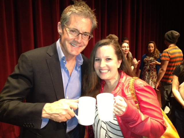 Kyle MacLachlan and I sharing a cup o' joe.
