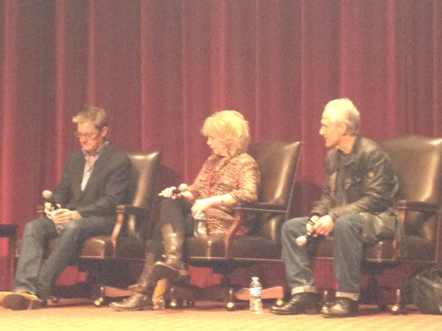 USC Twin Peaks Retrospective panelists. From right to left: Kyle MacLachlan, Julee Cruise and David Patrick Kelly.