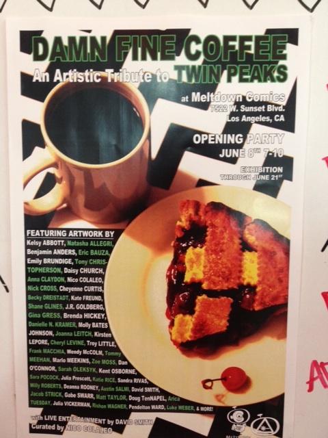 Damn Fine Coffee art exhibition