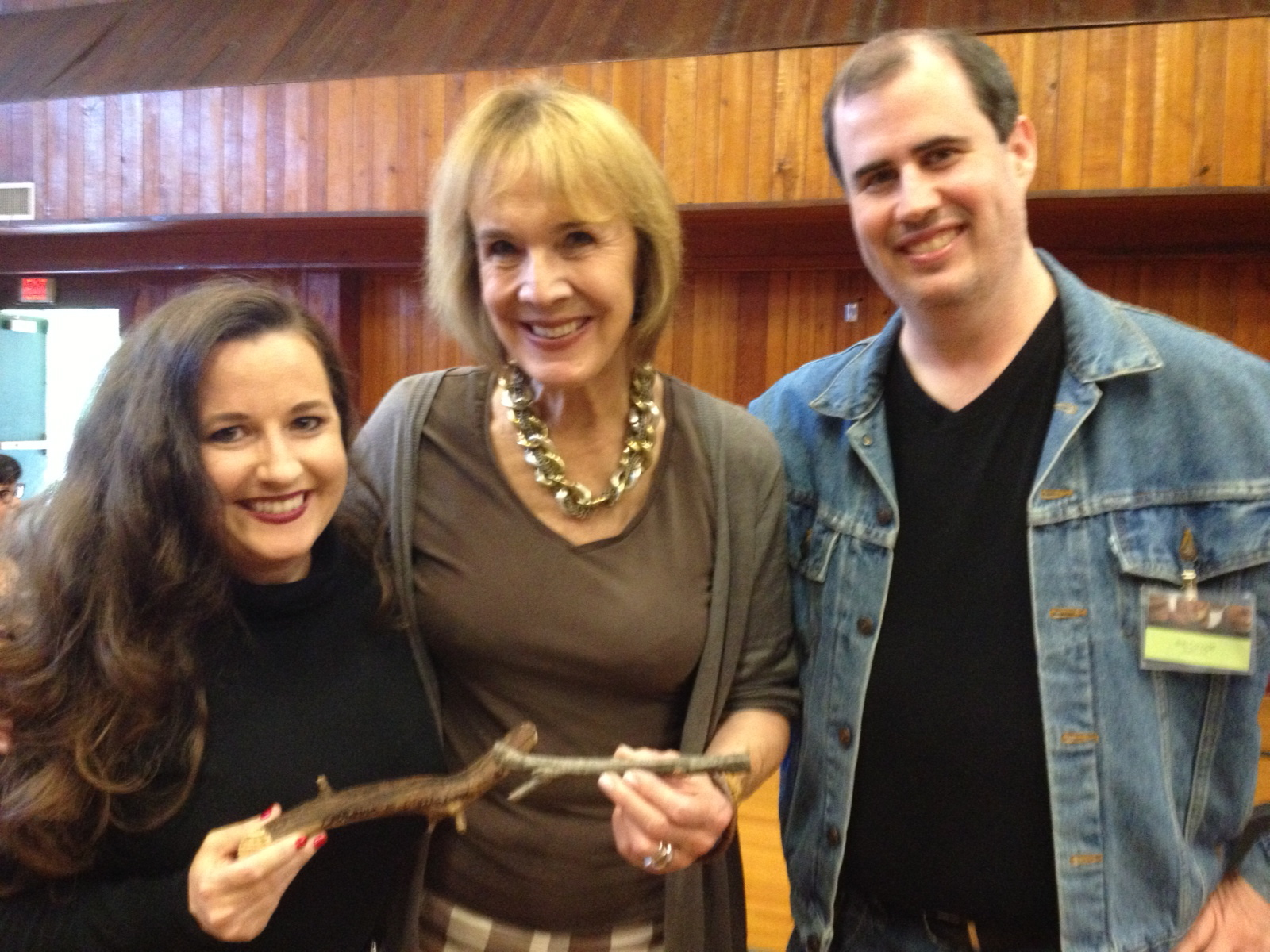 "My husband and I with Catherine Coulson (Actor, ""The Log Lady"")."