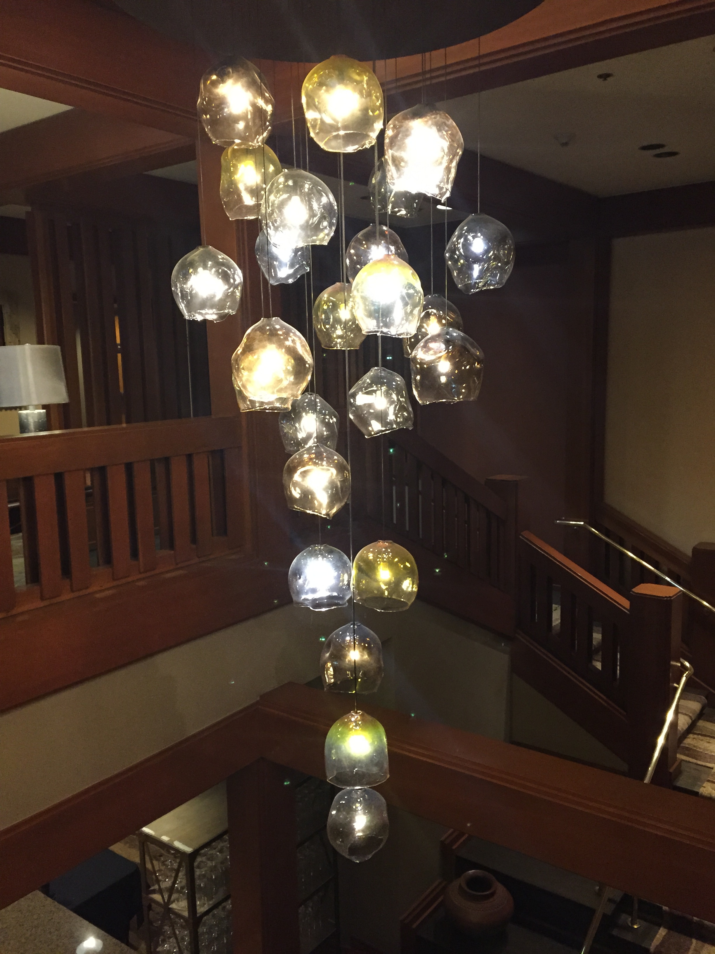 The light fixture at the Great Northern (Salish Lodge) went full Lynchian during the Fest. Electricity!