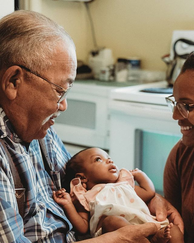 Growing up I stayed with my grandparents in the evenings through grade school and all day every summer.  We've shared so many memories together at this home in Weldon, NC.  This is definitely one memory I'll never forget.  Yesterday my granddad met Willa for the first time. . . . . . #greatgranddad #91yearsyoung #blackfathers #blackjoy #prouddad #fatherhood #family #familylife #babylove #babygirl #baby #durm #daughterlove #blackphotographer #photography #durhamphotography  #durhamphotographer #theblackmancan #adventuresofcornandmac #willavasion #blackphotography #fujixt20 #xt20 #35mmwr2