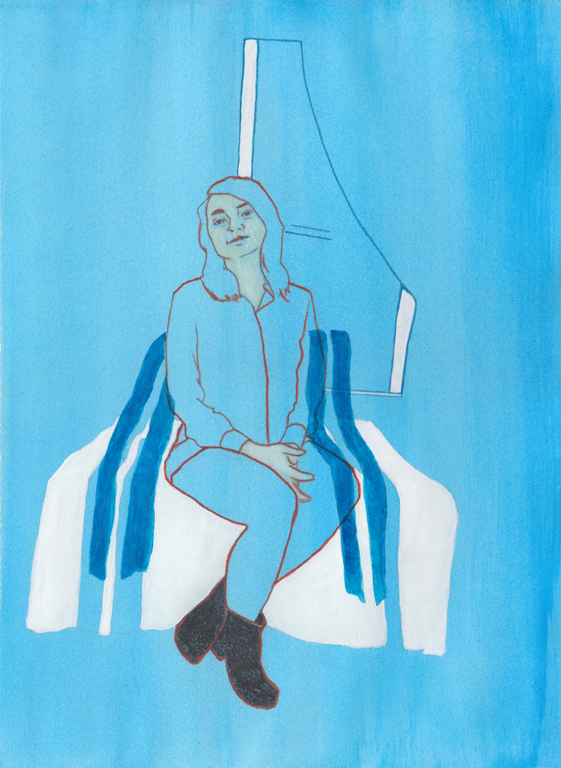"""Anika Colored pencil, acrylic and gouache on paper 19"""" x 11"""""""