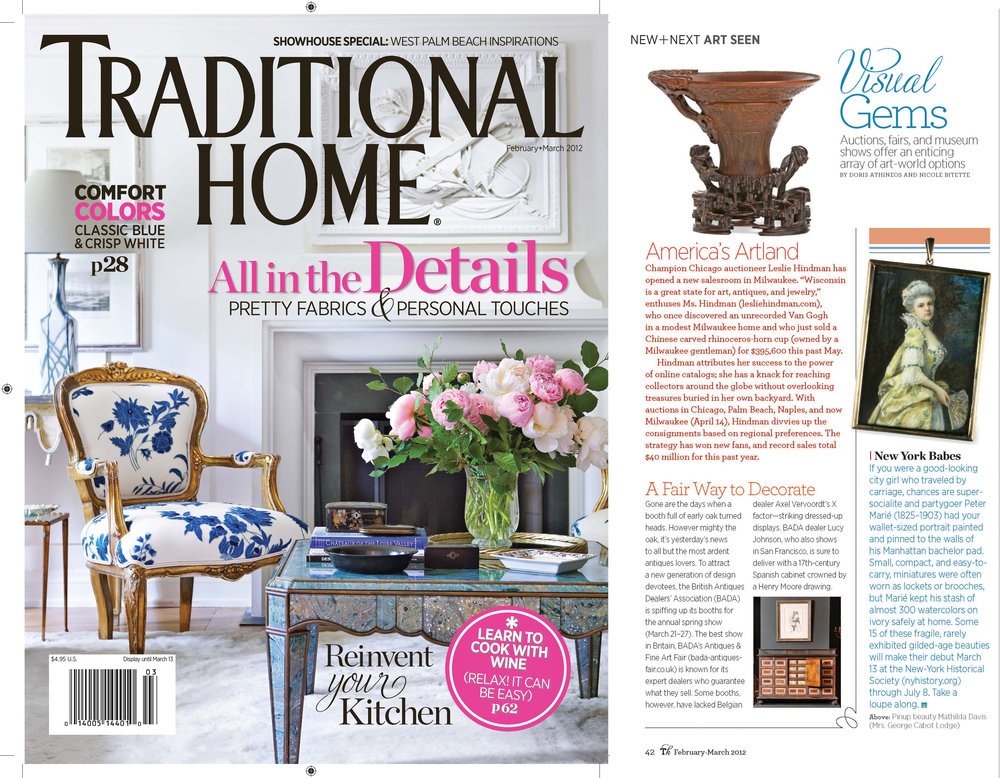 FEB/MARCH 2012 Traditional Home Magazine Art Seen