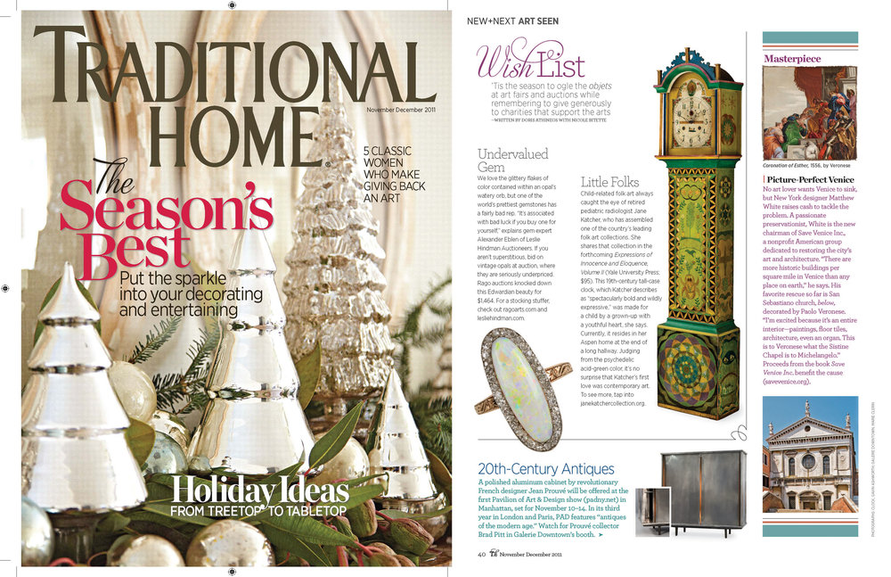NOV/DEC 2011 Traditional Home Magazine Art Seen