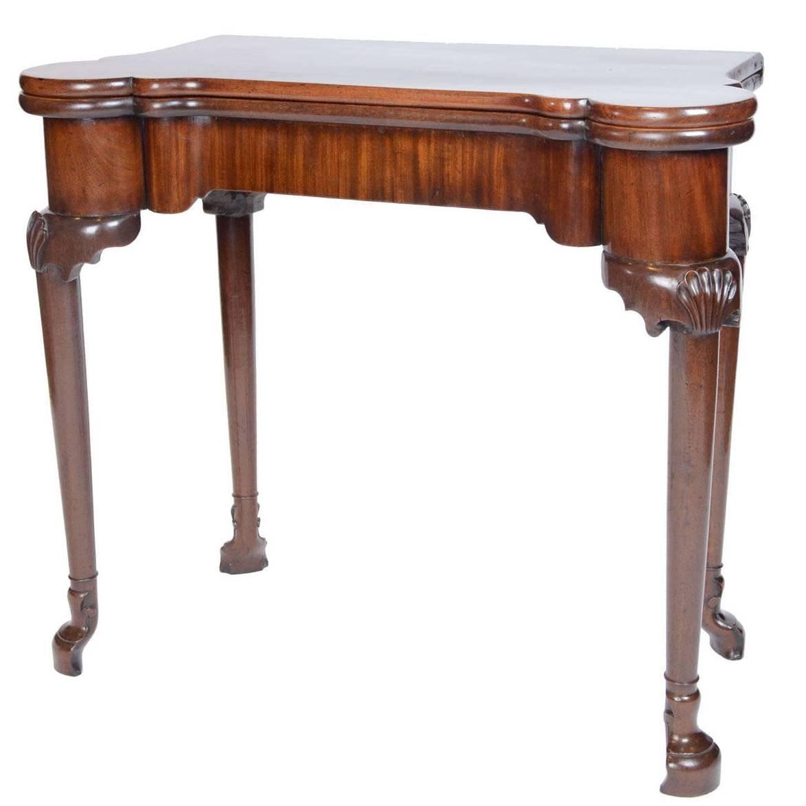 Fine And Rare George Ii Period Irish Mahogany Folding Card Table John Bly Antiques Five Generations Of Dealing In Fine Antiques