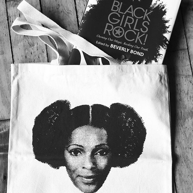 It's a no brainer ...get a @blackgirlsrock book for ANY woman in your life, then put it in a Dope Tote! These & other Black Girl Magic gifts (like @joanmorgan Book! #SheBegatThis) are on sale Tomorrow at a Pop Up & Convo @juicesforlifebk 277 Malcolm Blvd. 4-8 ..swipe for our book flash back inspiration @debwillisphoto #PosingBeauty) #BlackGirlsPop #BlackGirlsLit #BlackGirlsRock