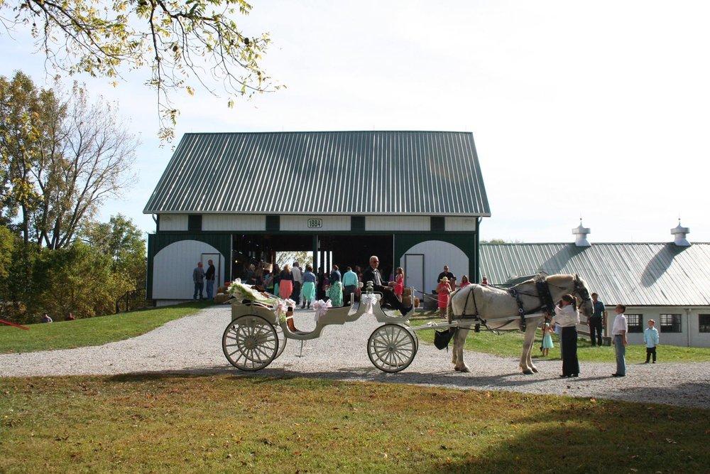 Legacy Barn at Leafy Lane Wedding Carriage