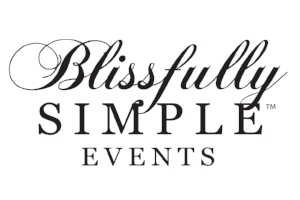 Blissfully Simple Stacked Logo Black