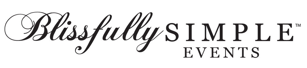 Blissfully Simple Events Horizontal Logo Black