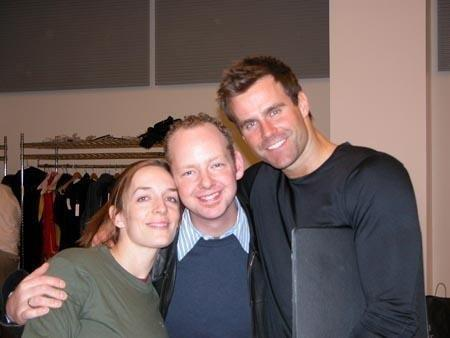 Julia Murney, Me and Cameron Mathison at rehearsal.jpg