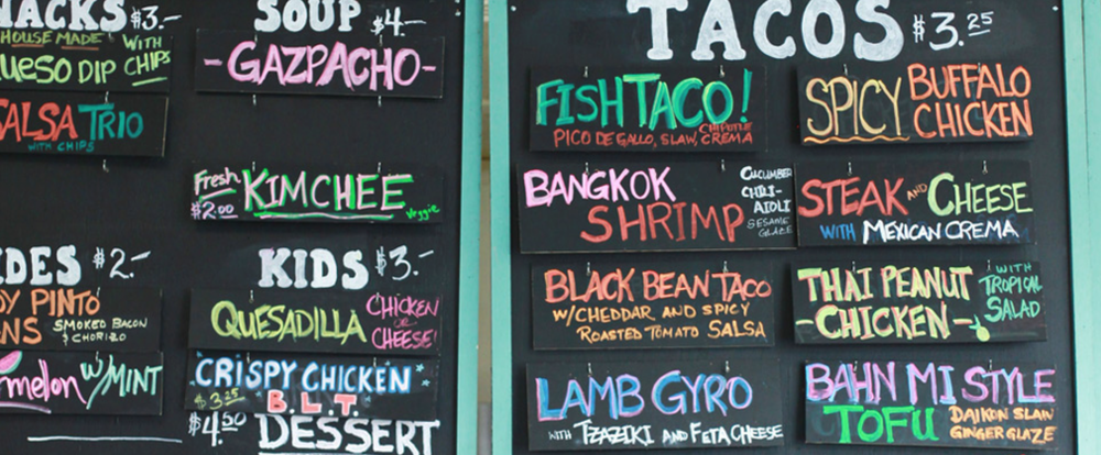 The White Duck Taco Shop menu