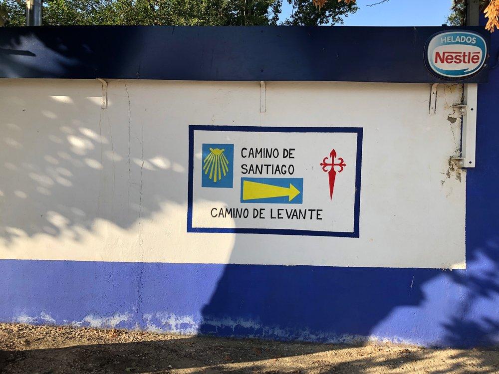 THE SECOND VILLAGE ON SANTA MARA DE LA LLANOS OBVIOUSLY DEVOTED TO THE CAMINO