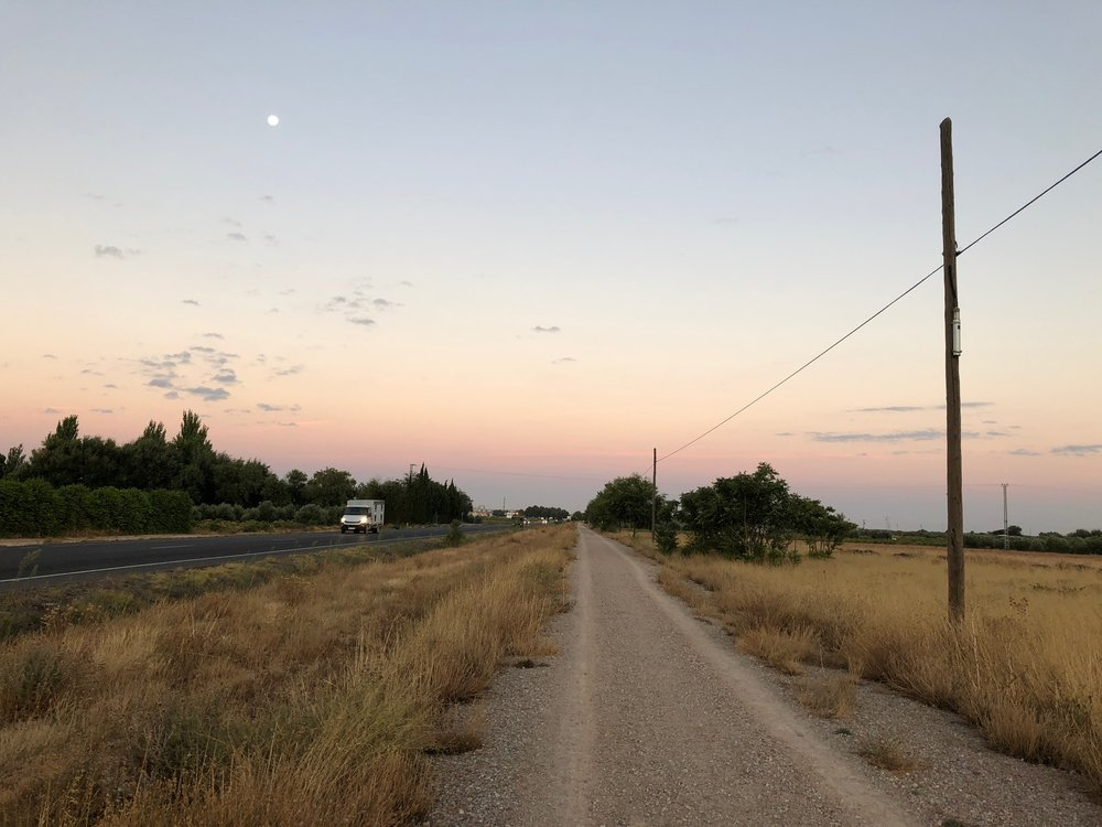 """THE """"HIGHWAY""""CAMINO WALK FOR 7 1/2 KM THIS MORNING"""
