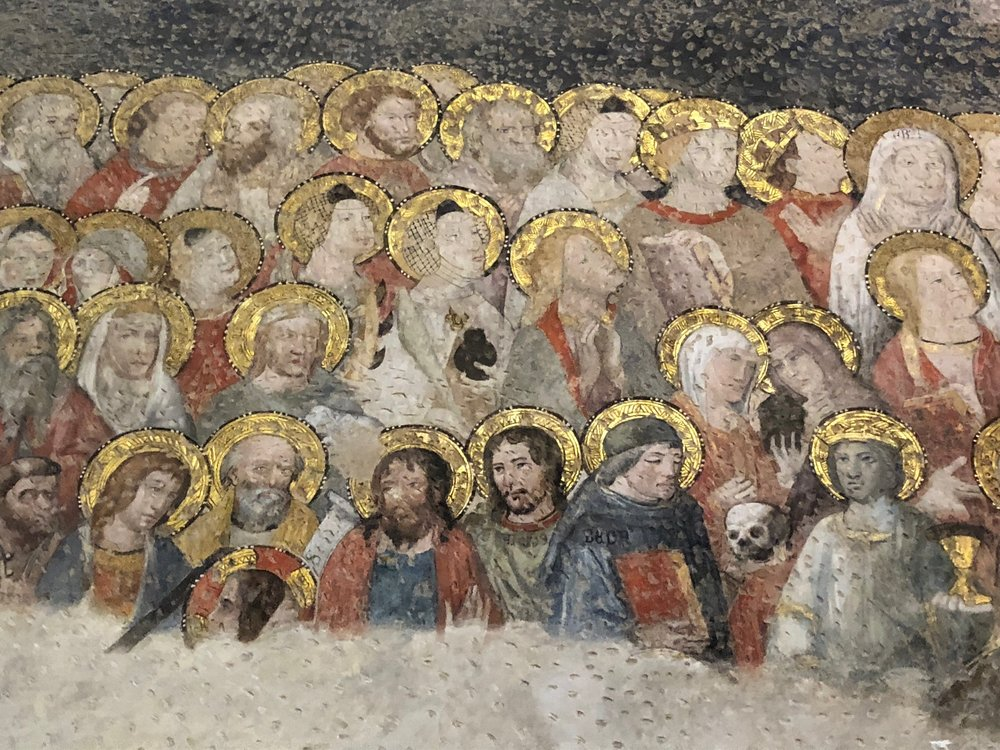 Copy of Frescoes with wonderful detail.