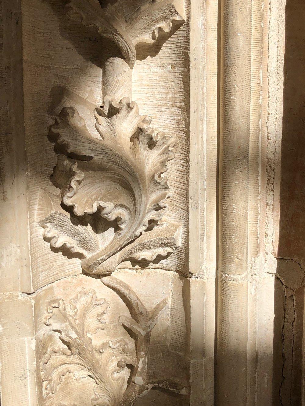 Stone work in the Church/ monastery of San Juan de los Reyes.
