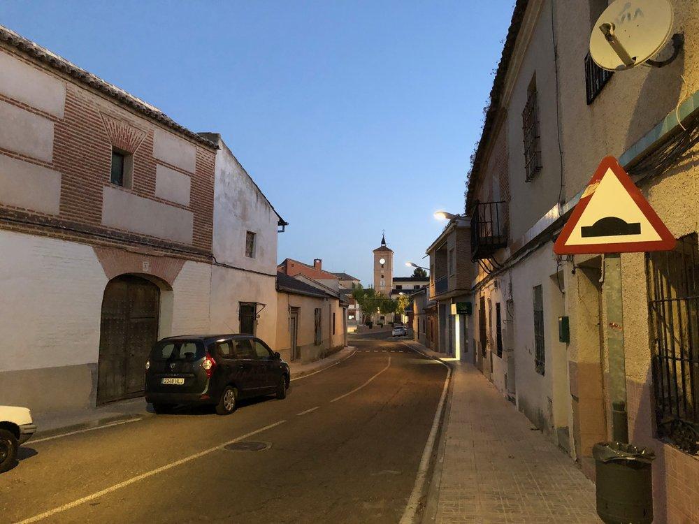 Val de Santo Domingo still asleep at 08.00.