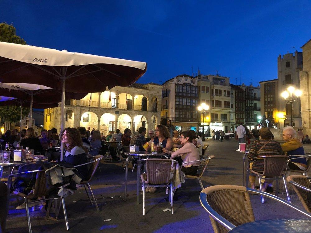 Plaza Mayor this evening