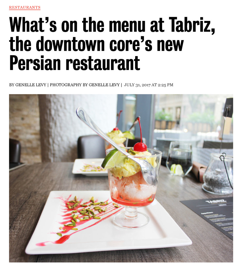What's on the menu at Tabriz, the downtown core's new Persian restaurant-1.jpg