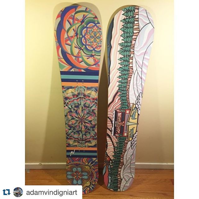 Getting excited for this season #powesnowboards #poweacrylic @adamvindigniart with #repostapp
