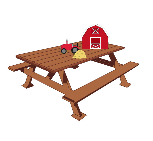Farm on Table... - The act of having a farm, on your table.