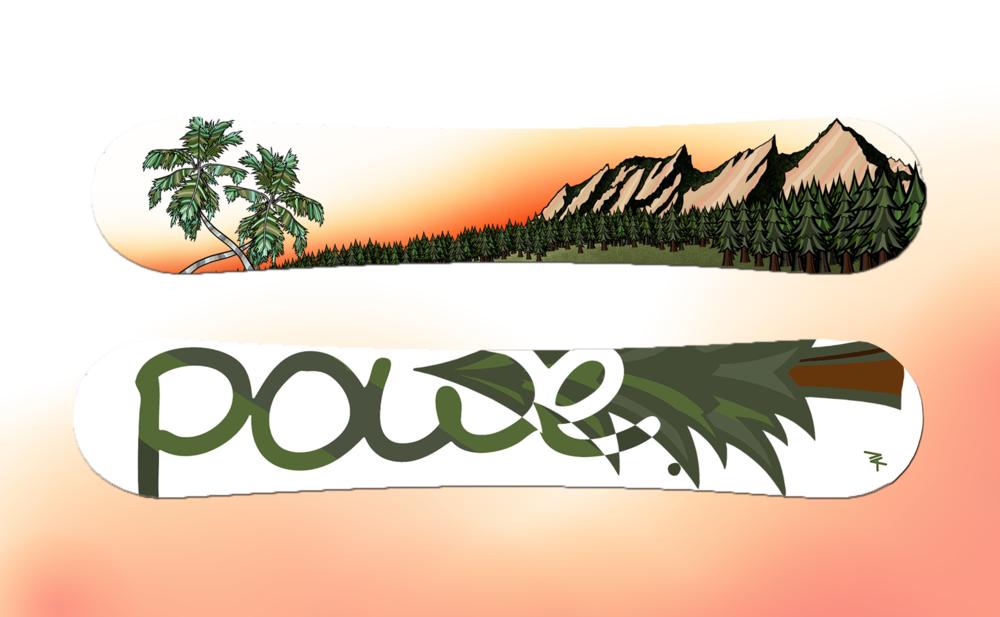 RL Custom Snowboard, Powe. Snowboards - Stowe, VT