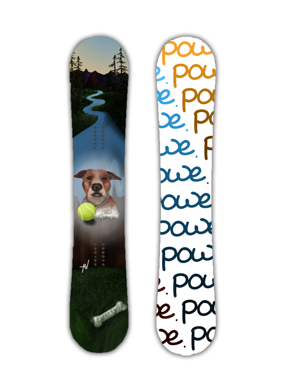 The Legacy, Powe. Snowboards, Stowe, Vt. Custom Snowbaords
